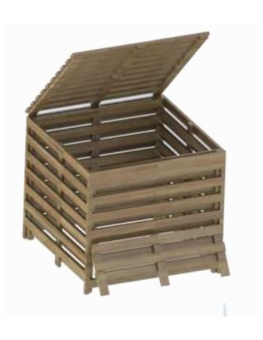 composteur bois 800 l. Black Bedroom Furniture Sets. Home Design Ideas