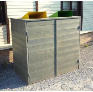 Abri conteneur recyclé casquettes