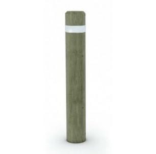 Borne bois ronde hs 1000 + bande réfléchissante