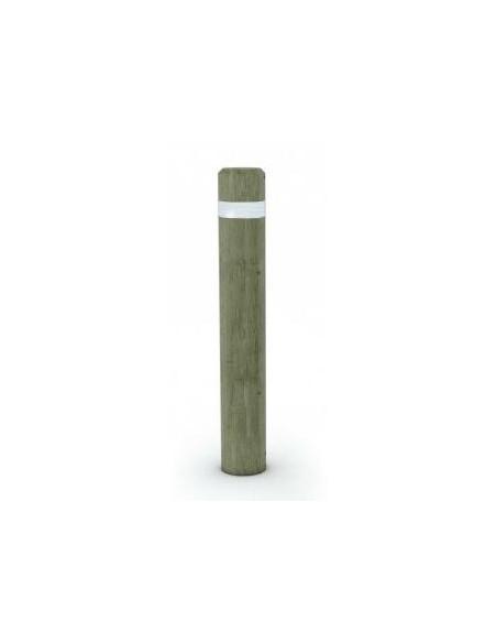 Borne bois ronde hs 1000 amovible + bande réfléchissante