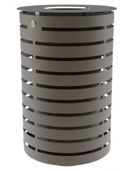 Corbeille Portalo 60 L gris martelé