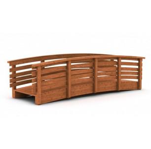 Passerelle bois pin cintrée 3 m