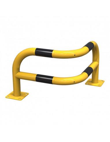 arceau angle renforce sur platine industrie acier jaune et noir protection batiment machine spl procity fabrication francaise