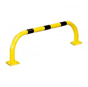 arceau bordure sur platine industrie acier jaune et noir protection batiment machine mur spl procity fabrication francaise