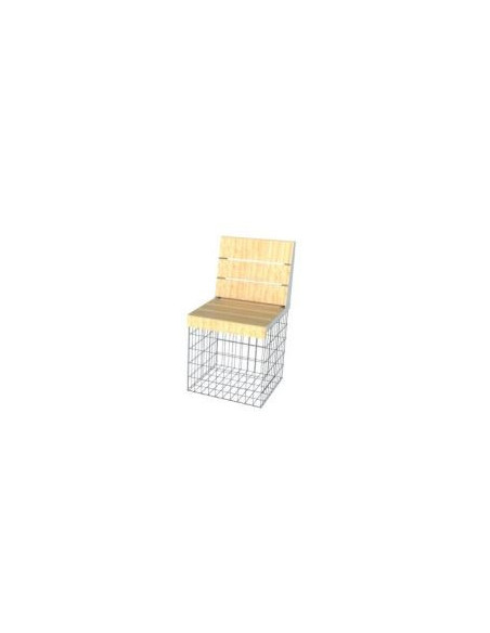 cage gabion amenagement assise banc id gabion bois meleze fauteuil chaise