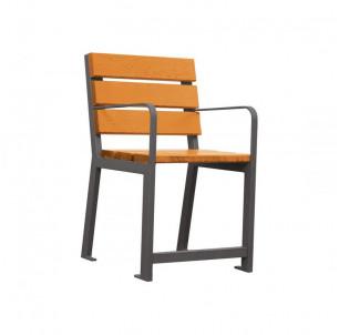 chaise fauteuil silaos senior bois et acier procity fabrication française