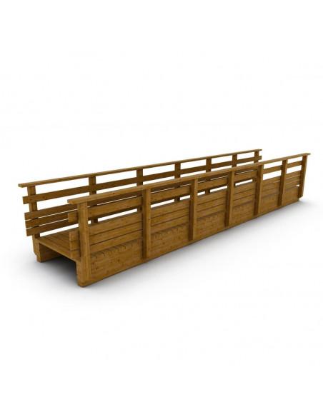 passerelle bois droite 3 m