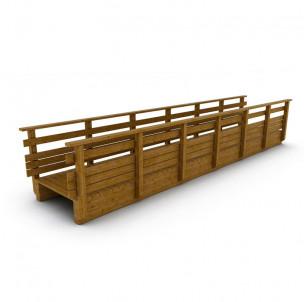 passerelle bois droite 4 m