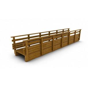Passerelle bois droite 10 m