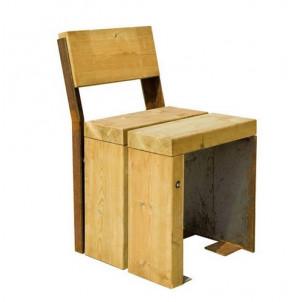 chaise gavarres bois et acier corten benito