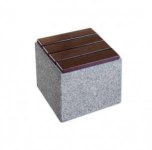 cube fauteuil assise chaise kube beton et bois benito