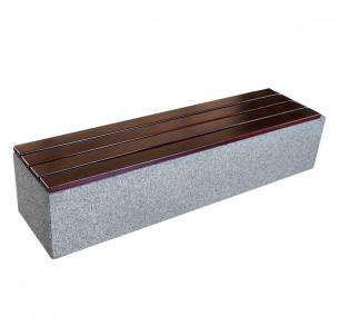 banquette chaise kube beton et bois benito