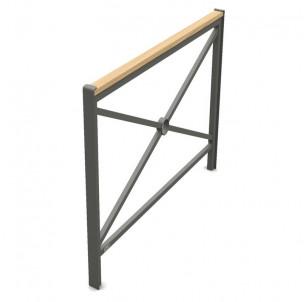 barriere de ville Primium 450 bois acier longueur 1000 mm procity fabrication francaise