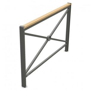barriere de ville Primium 450 bois acier longueur 1500 mm procity fabrication francaise