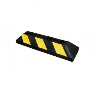 butee roue parking stationnement caoutchouc jaune et noir securite batiment delimitation place voiture procity spl