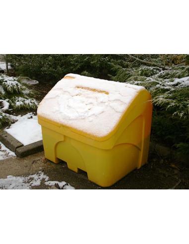 Bac à sel PEHD 400 L jaune