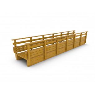 Passerelle bois droite 9 m