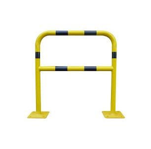 arceau renforce sur platine industrie acier jaune et noir protection batiment machine mur spl procity fabrication francaise