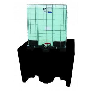 Palette 1 cubi PE avec caillebotis