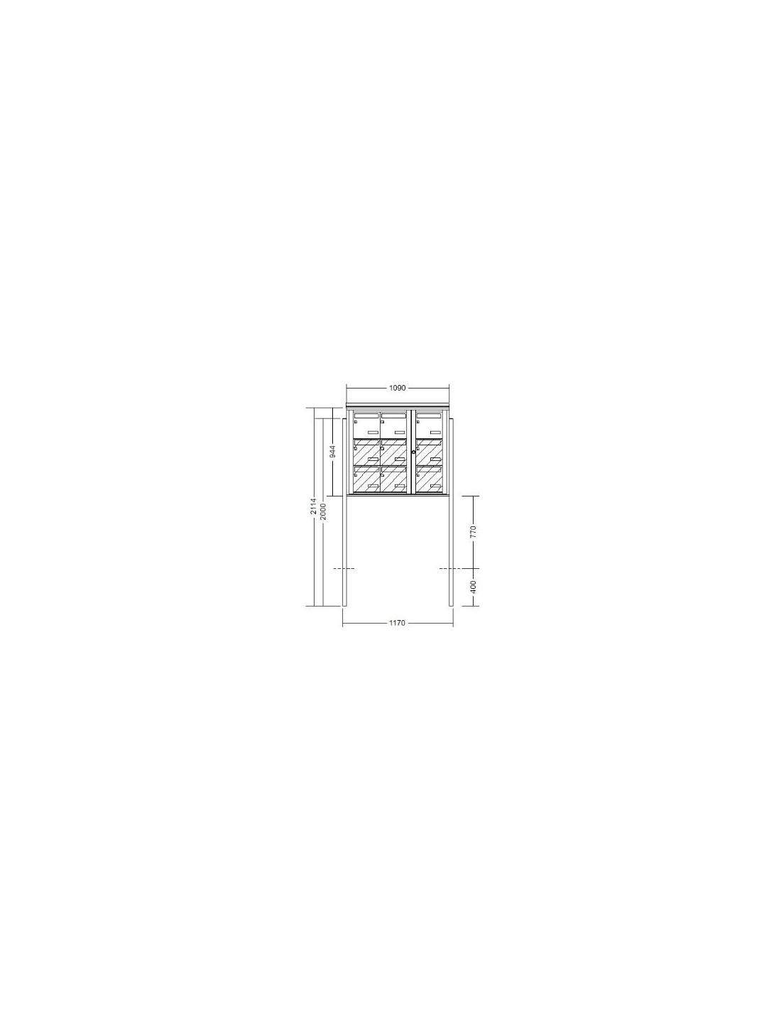 bo te aux lettres 9 volumes sur pied. Black Bedroom Furniture Sets. Home Design Ideas