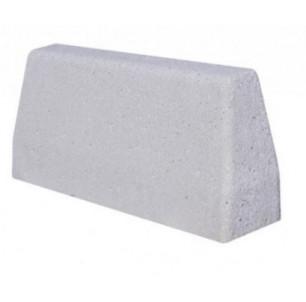 Bordure de défense béton 1000 gris lisse
